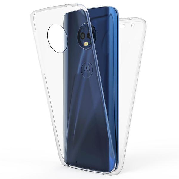 NALIA 360 Grad Handyhülle kompatibel mit Motorola Moto G6, Full-Cover Silikon Bumper mit Displayschutz vorne Hardcase hinten, Hülle Schutz, Dünn Ganzkörper Case Handy-Tasche – Bild 2