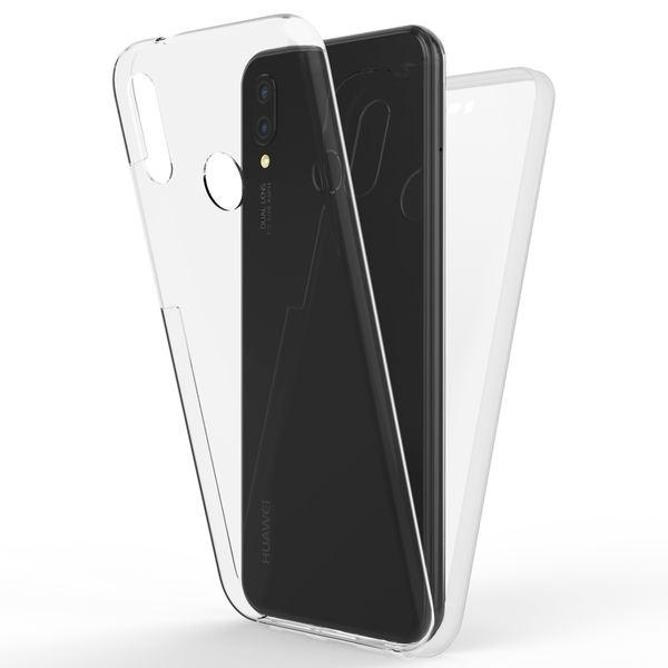 NALIA 360 Grad Handyhülle kompatibel mit Huawei P20 Lite, Full-Cover Silikon Bumper mit Displayschutz vorne Hardcase hinten, Hülle Doppel-Schutz, Dünn Ganzkörper Case Handy-Tasche – Bild 2