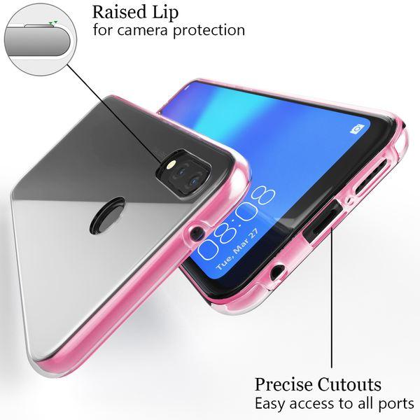 NALIA 360 Grad Handyhülle kompatibel mit Huawei P20 Lite, Full-Cover Silikon Bumper mit Displayschutz vorne Hardcase hinten, Hülle Doppel-Schutz, Dünn Ganzkörper Case Handy-Tasche – Bild 16