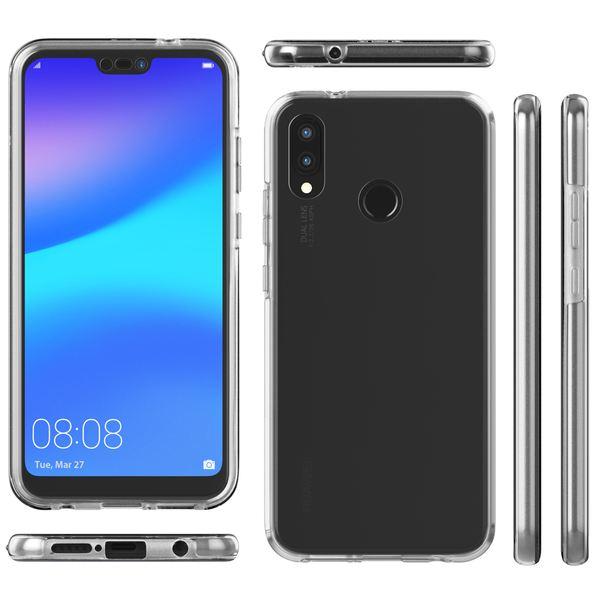 NALIA 360 Grad Handyhülle kompatibel mit Huawei P20 Lite, Full-Cover Silikon Bumper mit Displayschutz vorne Hardcase hinten, Hülle Doppel-Schutz, Dünn Ganzkörper Case Handy-Tasche – Bild 7
