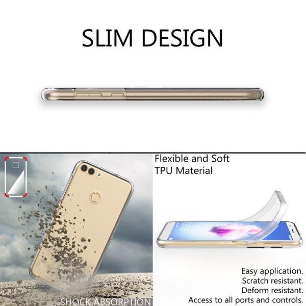 NALIA 360 Grad Handyhülle kompatibel mit Huawei P Smart, Full-Cover Silikon Bumper mit Displayschutz vorne Hardcase hinten, Hülle Doppel-Schutz, Dünn Ganzkörper Case Handy-Tasche – Bild 6