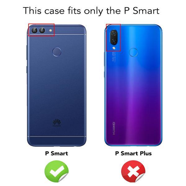 NALIA 360 Grad Handyhülle kompatibel mit Huawei P Smart, Full-Cover Silikon Bumper mit Displayschutz vorne Hardcase hinten, Hülle Doppel-Schutz, Dünn Ganzkörper Case Handy-Tasche – Bild 5