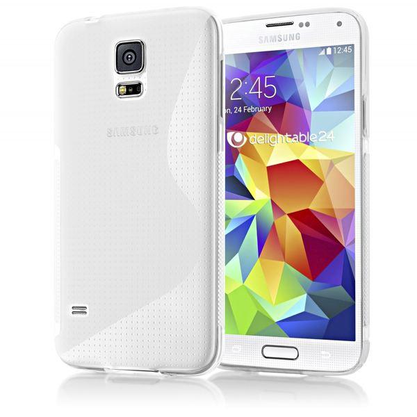 NALIA Handyhülle kompatibel mit Samsung Galaxy S5 S5 Neo, Hülle Ultra-Slim Silikon Case Dünn Crystal Schutzhülle, Etui Handy-Tasche Back-Cover Bumper, Thin Smart-Phone Gummihülle - S-Line Transparent – Bild 2