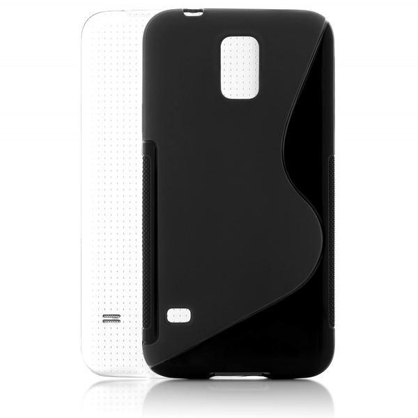 NALIA Handyhülle kompatibel mit Samsung Galaxy S5 S5 Neo, Hülle Ultra-Slim Silikon Case Dünn Crystal Schutzhülle, Etui Handy-Tasche Back-Cover Bumper, Thin Smart-Phone Gummihülle - S-Line Schwarz – Bild 2