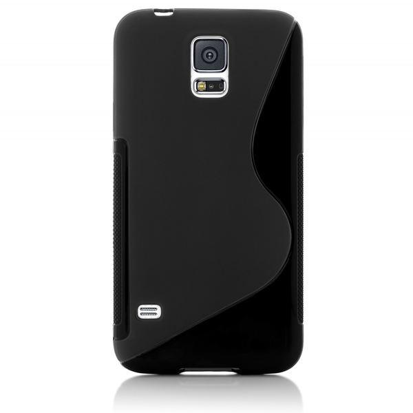 NALIA Handyhülle kompatibel mit Samsung Galaxy S5 S5 Neo, Hülle Ultra-Slim Silikon Case Dünn Crystal Schutzhülle, Etui Handy-Tasche Back-Cover Bumper, Thin Smart-Phone Gummihülle - S-Line Schwarz – Bild 6