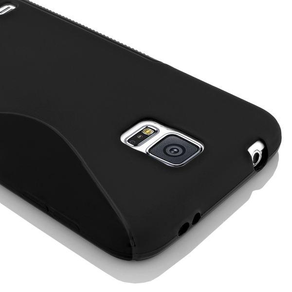 NALIA Handyhülle kompatibel mit Samsung Galaxy S5 S5 Neo, Hülle Ultra-Slim Silikon Case Dünn Crystal Schutzhülle, Etui Handy-Tasche Back-Cover Bumper, Thin Smart-Phone Gummihülle - S-Line Schwarz – Bild 4
