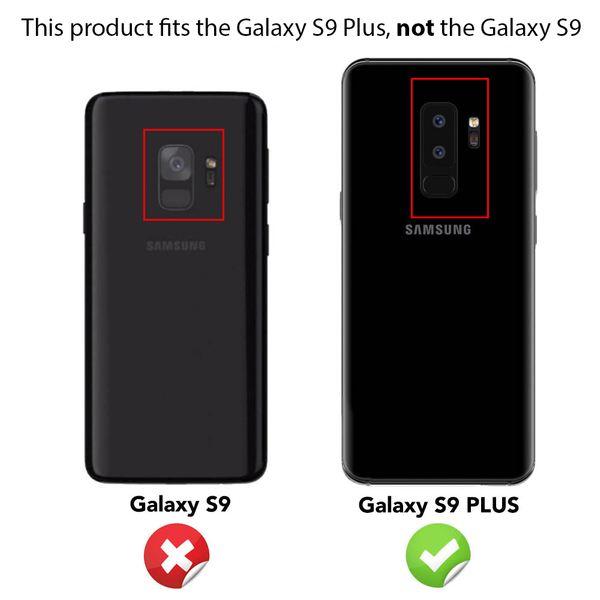 NALIA Ring Hülle kompatibel mit Samsung S9 Plus, Glitzer Handyhülle Ultra-Slim Silikon Case Back-Cover mit 360-Grad Fingerhalterung, Glitter Handy-Tasche Bumper, Bling Phone Etui – Bild 4