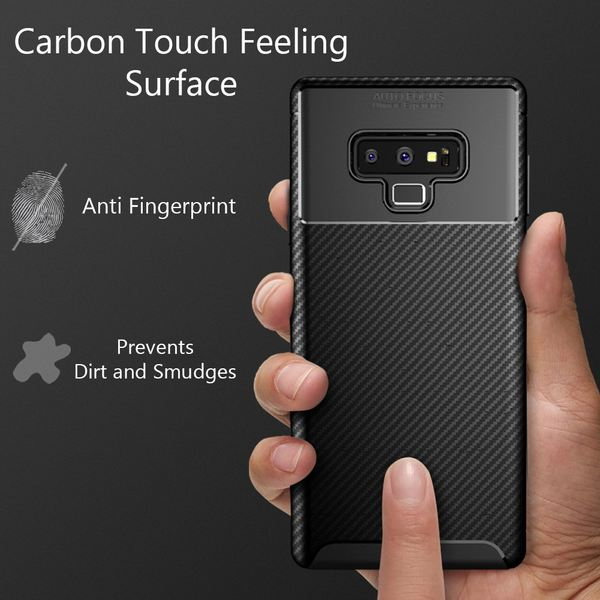 NALIA Hülle kompatibel mit Samsung Galaxy Note 9, Ultra-Slim Silikon Case Cover Etui Handyhülle, Dünnes Soft Skin Phone Schutzhülle Stoßfeste Handy-Tasche Backcover Smartphone Bumper  – Schwarz – Bild 3