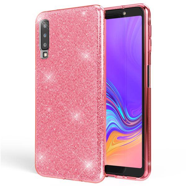 NALIA Hülle kompatibel mit Samsung Galaxy A7 2018, Glitzer Handyhülle Ultra-Slim Silikon-Case Back-Cover Schutzhülle, Glitter Sparkle Handy-Tasche Bumper Dünnes Bling Strass Etui – Bild 9