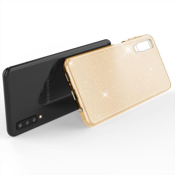 NALIA Hülle kompatibel mit Samsung Galaxy A7 2018, Glitzer Handyhülle Ultra-Slim Silikon-Case Back-Cover Schutzhülle, Glitter Sparkle Handy-Tasche Bumper Dünnes Bling Strass Etui – Bild 17