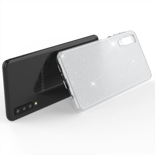NALIA Hülle kompatibel mit Samsung Galaxy A7 2018, Glitzer Handyhülle Ultra-Slim Silikon-Case Back-Cover Schutzhülle, Glitter Sparkle Handy-Tasche Bumper Dünnes Bling Strass Etui – Bild 24