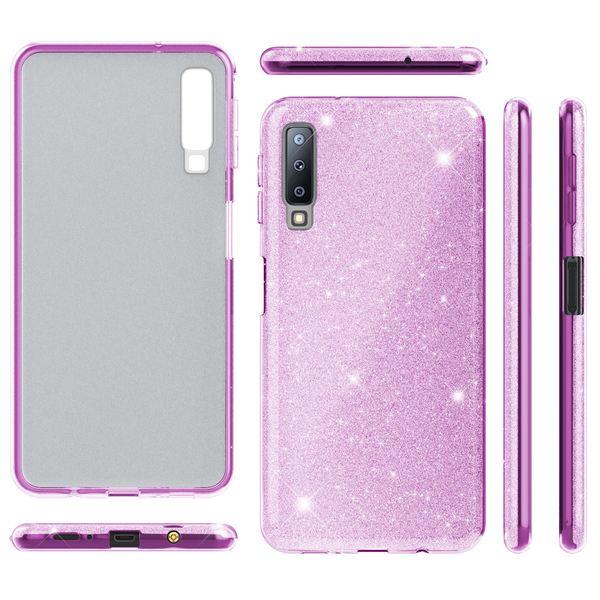NALIA Hülle kompatibel mit Samsung Galaxy A7 2018, Glitzer Handyhülle Ultra-Slim Silikon-Case Back-Cover Schutzhülle, Glitter Sparkle Handy-Tasche Bumper Dünnes Bling Strass Etui – Bild 22