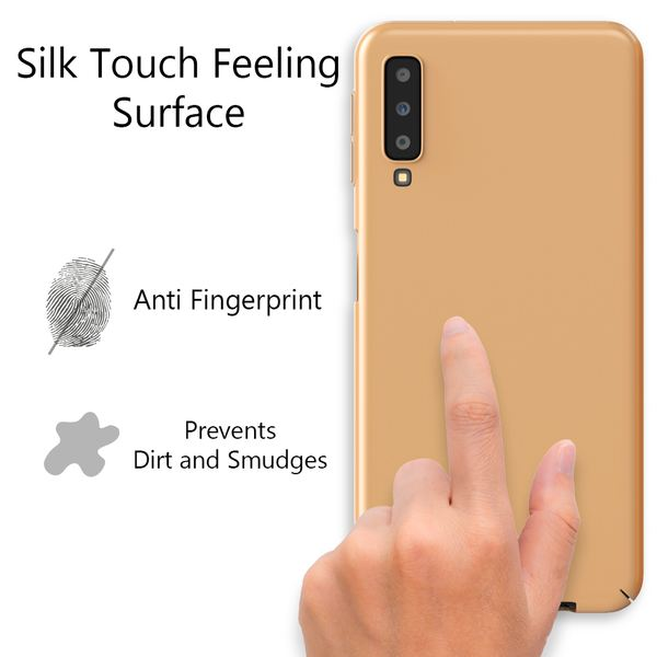 NALIA Handyhülle kompatibel mit Samsung Galaxy A7 2018, Dünnes Hard-Case Hülle Schutzhülle Matt, Ultra-Slim Cover Etui Handy-Tasche, Ultra-Slim Smart-Phone Backcover Skin Bumper – Bild 13