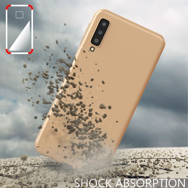 NALIA Handyhülle kompatibel mit Samsung Galaxy A7 2018, Dünnes Hard-Case Hülle Schutzhülle Matt, Ultra-Slim Cover Etui Handy-Tasche, Ultra-Slim Smart-Phone Backcover Skin Bumper – Bild 7