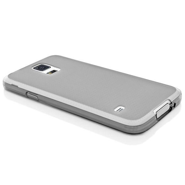 NALIA Handyhülle kompatibel mit Samsung Galaxy S5 S5 Neo, Hülle Ultra-Slim Silikon Case Dünn Crystal Schutzhülle, Etui Handy-Tasche Back-Cover Bumper, Thin-Fit Smart-Phone Gummihülle - Matt Grau – Bild 5