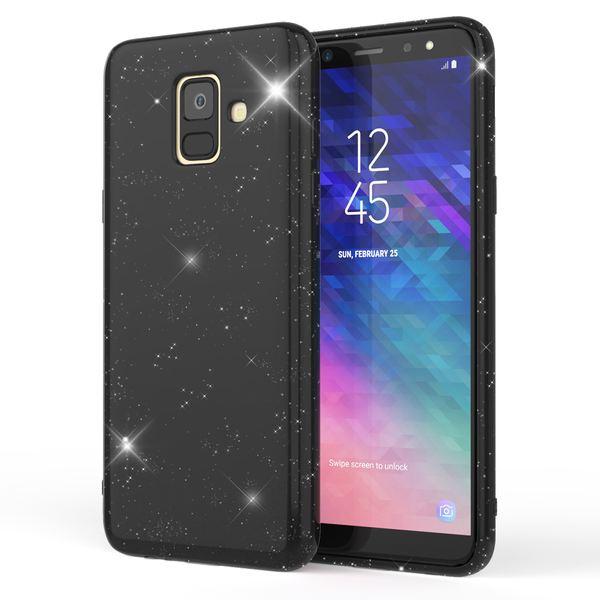 NALIA Glitzer Hülle kompatibel mit Samsung Galaxy A6, Schimmernde Ultra-Slim Silikon Handyhülle Cover Glitter Schutzhülle, Dünnes Case Etui Handy-Tasche Bumper Phone Skin Backcover – Bild 2