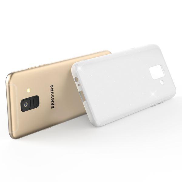 NALIA Glitzer Hülle kompatibel mit Samsung Galaxy A6, Schimmernde Ultra-Slim Silikon Handyhülle Cover Glitter Schutzhülle, Dünnes Case Etui Handy-Tasche Bumper Phone Skin Backcover – Bild 9