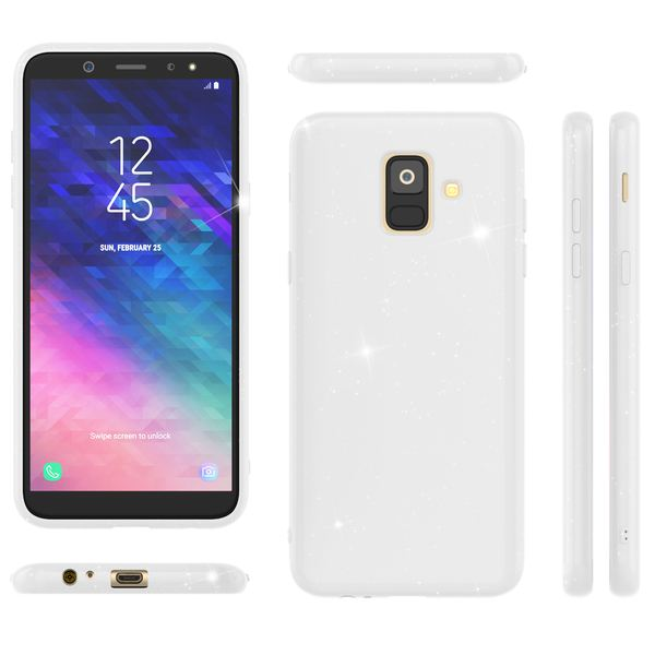 NALIA Glitzer Hülle kompatibel mit Samsung Galaxy A6, Schimmernde Ultra-Slim Silikon Handyhülle Cover Glitter Schutzhülle, Dünnes Case Etui Handy-Tasche Bumper Phone Skin Backcover – Bild 13