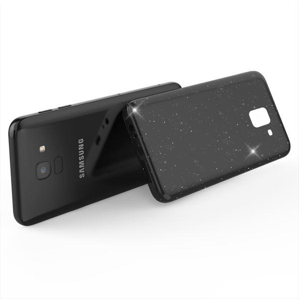 NALIA Glitzer Hülle kompatibel mit Samsung Galaxy J6, Schimmernde Ultra-Slim Silikon Handyhülle Cover Glitter Schutzhülle, Dünnes Case Etui Handy-Tasche Bumper Phone Skin Backcover – Bild 3