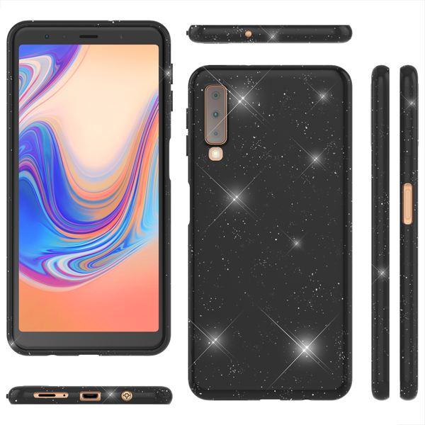 NALIA Glitzer Hülle kompatibel mit Samsung Galaxy A7 2018, Schimmernde Ultra-Slim Silikon Handyhülle Cover Glitter Schutzhülle, Dünnes Case Etui Handy-Tasche Bumper Skin Backcover – Bild 7