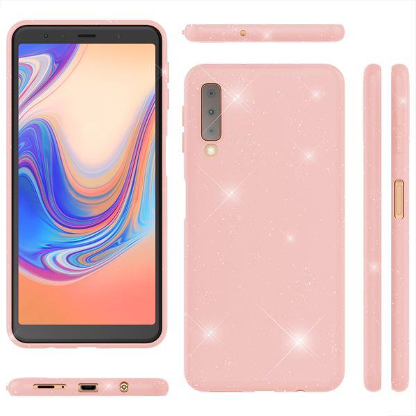 NALIA Glitzer Hülle kompatibel mit Samsung Galaxy A7 2018, Schimmernde Ultra-Slim Silikon Handyhülle Cover Glitter Schutzhülle, Dünnes Case Etui Handy-Tasche Bumper Skin Backcover – Bild 19