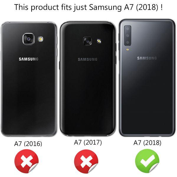 NALIA Glitzer Hülle kompatibel mit Samsung Galaxy A7 2018, Schimmernde Ultra-Slim Silikon Handyhülle Cover Glitter Schutzhülle, Dünnes Case Etui Handy-Tasche Bumper Skin Backcover – Bild 5