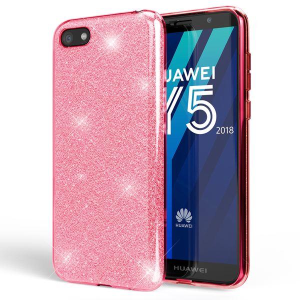 NALIA Handyhülle kompatibel mit Huawei Y5 2018, Glitzer Ultra-Slim Silikon-Case Back-Cover Schutzhülle, Glitter Sparkle Handytasche Bumper Dünnes Bling Strass Smartphone Etui – Bild 9