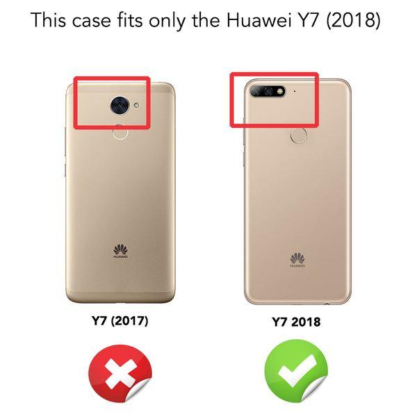 NALIA Handyhülle kompatibel mit Huawei Y7 2018, Glitzer Ultra-Slim Silikon-Case Back-Cover Schutzhülle, Glitter Sparkle Handytasche Bumper Dünnes Bling Strass Smartphone Etui – Bild 5