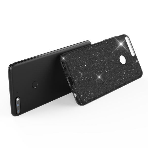 NALIA Handyhülle kompatibel mit Huawei Y7 2018, Glitzer Ultra-Slim Silikon-Case Back-Cover Schutzhülle, Glitter Sparkle Handytasche Bumper Dünnes Bling Strass Smartphone Etui – Bild 3