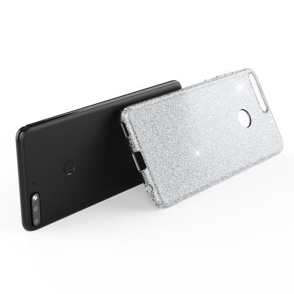 NALIA Handyhülle kompatibel mit Huawei Y7 2018, Glitzer Ultra-Slim Silikon-Case Back-Cover Schutzhülle, Glitter Sparkle Handytasche Bumper Dünnes Bling Strass Smartphone Etui – Bild 24