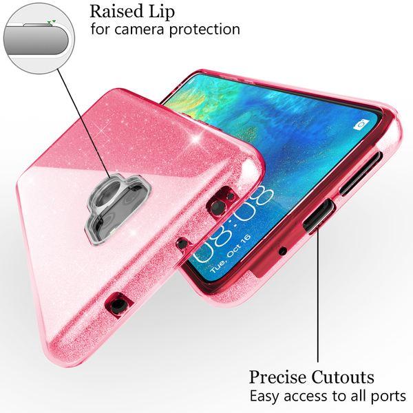 NALIA Handyhülle kompatibel mit Huawei Mate20, Glitzer Ultra-Slim Silikon-Case Back-Cover TPU Schutzhülle, Glitter Sparkle Handytasche Bumper Dünnes Bling Strass Smartphone Etui – Bild 13