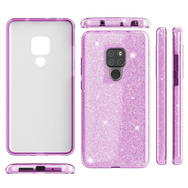 NALIA Handyhülle kompatibel mit Huawei Mate20, Glitzer Ultra-Slim Silikon-Case Back-Cover TPU Schutzhülle, Glitter Sparkle Handytasche Bumper Dünnes Bling Strass Smartphone Etui – Bild 8
