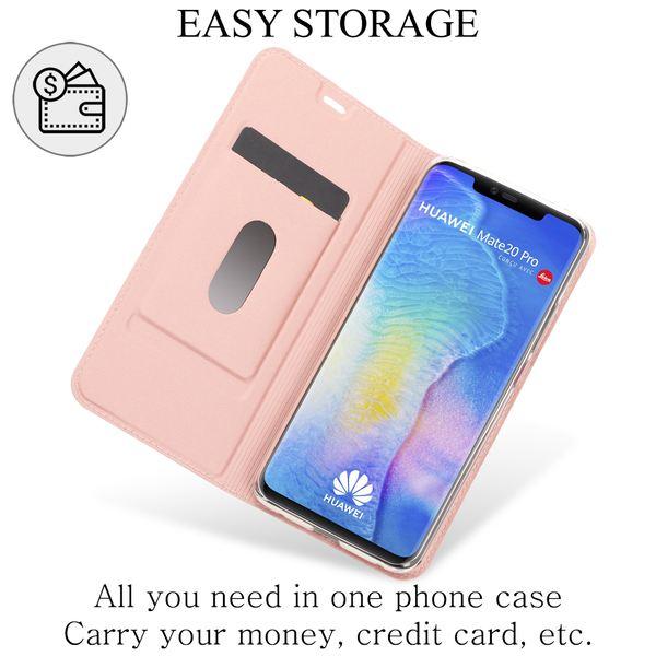 NALIA Klapphülle kompatibel mit Huawei Mate20 Pro, Flip Case Kunst-Leder Handyhülle Hard Cover Etui 360 Grad Hülle, Handy-Tasche Phone Book Bumper Schutzhülle Wallet Klappbar – Bild 3