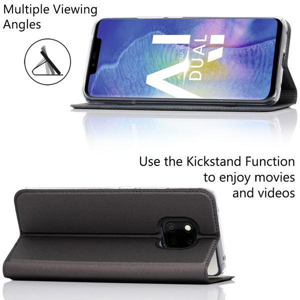 NALIA Klapphülle kompatibel mit Huawei Mate20 Pro, Flip Case Kunst-Leder Handyhülle Hard Cover Etui 360 Grad Hülle, Handy-Tasche Phone Book Bumper Schutzhülle Wallet Klappbar – Bild 6