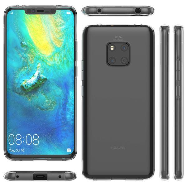NALIA 360 Grad Handyhülle kompatibel mit Huawei Mate20 Pro, Full-Cover Silikon Bumper mit Displayschutz vorne Hardcase hinten Hülle Doppel-Schutz Dünn Ganzkörper Case Handy-Tasche – Bild 14