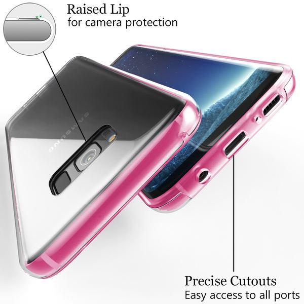 NALIA 360 Grad Handyhülle kompatibel mit Samsung Galaxy S8 Plus, Full-Cover Silikon Bumper mit Displayschutz vorne Hardcase hinten, Hülle Doppel-Schutz Dünn Case Handy-Tasche – Bild 18