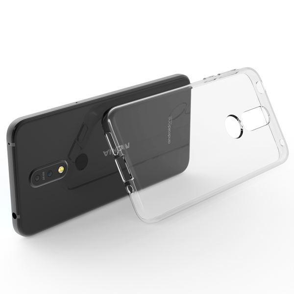 NALIA Hülle kompatibel mit Nokia 7.1 (2018), Soft Handyhülle TPU Silikon Case Cover Crystal Clear, Dünne Durchsichtige Etui Handy-Taschen Schutzhülle, Transparent Phone Back-Cover Bumper – Bild 2