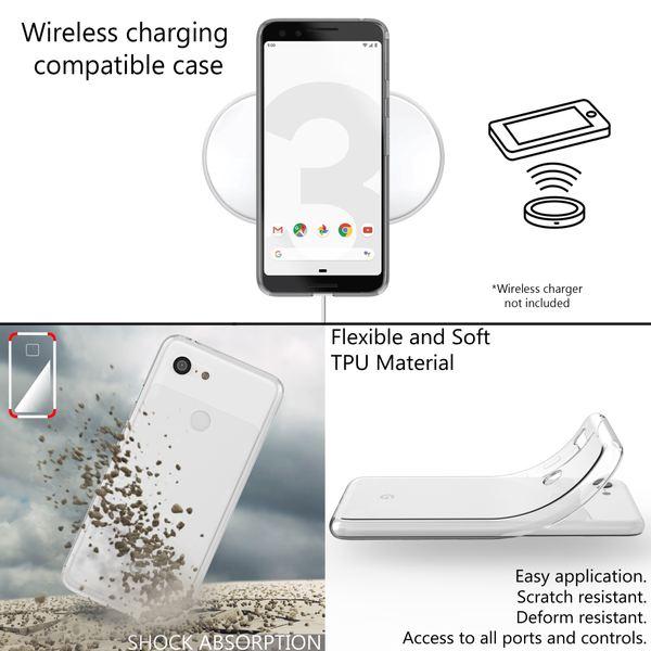 NALIA Hülle kompatibel mit Google Pixel 3, Ultra-Slim Handyhülle TPU Silikon Case Cover Crystal Clear Schutzhülle Dünn Durchsichtig, Etui Handy-Tasche Backcover Transparent Rückseite, Phone Bumper – Bild 3
