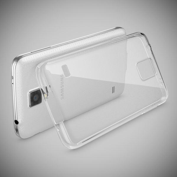 NALIA Handyhülle kompatibel mit Samsung Galaxy S5 S5 Neo, Hülle Ultra-Slim Silikon Case Dünn Crystal Schutzhülle, Etui Handy-Tasche Back-Cover Bumper, Thin Smart-Phone Gummihülle - Transparent / Klar – Bild 2