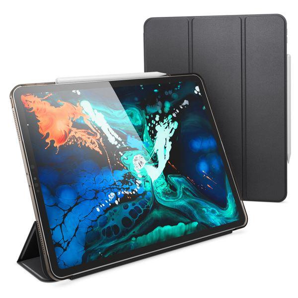 NALIA Hülle kompatibel mit iPad Pro 12,9 Zoll (2018), Ultra-Slim Dünne Tablet Smart Case Cover mit Ausschnitt für Pencil, Kunst-leder Display-Schutz Hardcase Backcover Sleeve – Bild 2