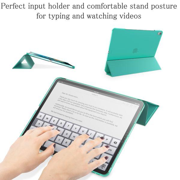 NALIA Hülle kompatibel mit iPad Pro 12,9 Zoll (2018), Ultra-Slim Dünne Tablet Smart Case Cover mit Ausschnitt für Pencil, Kunst-leder Display-Schutz Hardcase Backcover Sleeve – Bild 4