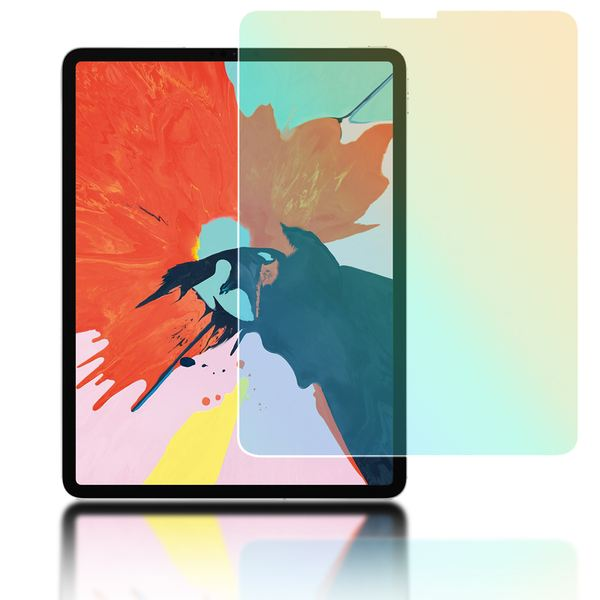 "NALIA Schutz-Glas kompatibel mit Apple iPad Pro 2018 (12,9""), 2.5D Round Edge Full-Cover Display-Schutzfolie durchsichtig / 0.3mm Tablet Abdeckung Schutzfolie Hartglas Panzerfolie - Kristall Klar – Bild 1"