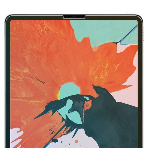 "NALIA Schutz-Glas kompatibel mit Apple iPad Pro 2018 (12,9""), 2.5D Round Edge Full-Cover Display-Schutzfolie durchsichtig / 0.3mm Tablet Abdeckung Schutzfolie Hartglas Panzerfolie - Kristall Klar – Bild 3"