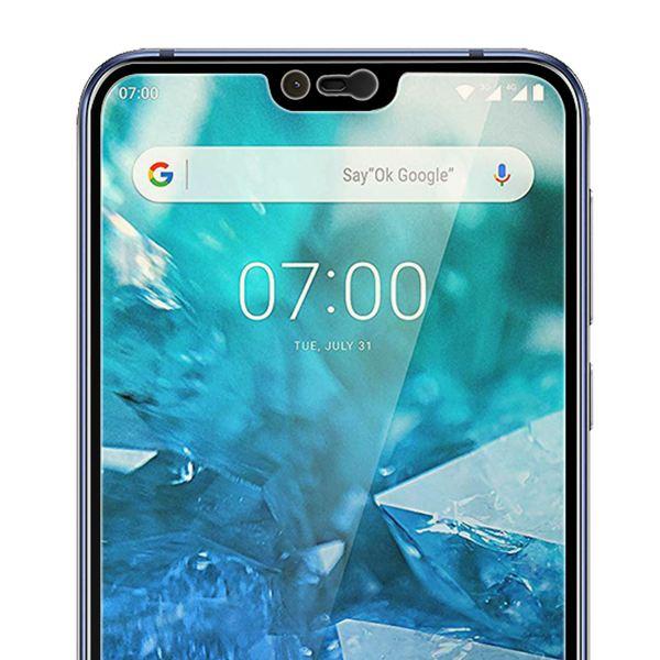 NALIA (2-Pack)Schutzglas kompatibel mit Nokia 7.1 (2018), 9H Full-Cover Display Schutz Glas-Folie, Dünne Handy Schutzfolie Bildschirm-Abdeckung Schutz-Film HD Screen Protector - Transparent (schwarz) – Bild 5