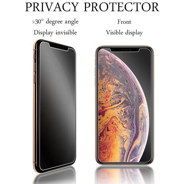 NALIA Sicht-Schutzglas kompatibel mit iPhone X XS, Anti Spy Blickschutz Glas Privacy Filter Full-Cover 9H Displayschutz-Folie, Schutzglas Screen Protector Volle Tablet Bildschirm Display-Abdeckung – Bild 3