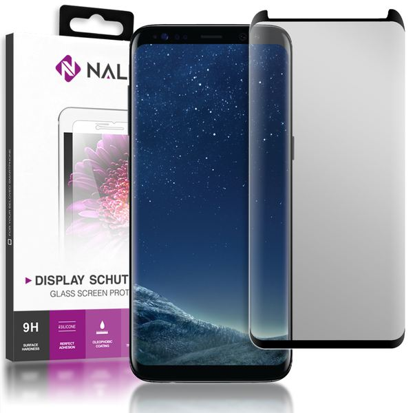 NALIA Sicht-Schutzglas kompatibel mit Samsung Galaxy S8 Plus, Anti Spy Blickschutz Glas Privacy Filter Full-Cover 9H Displayschutz-Folie Schutzglas Protector Volle Tablet Bildschirm Display-Abdeckung – Bild 1