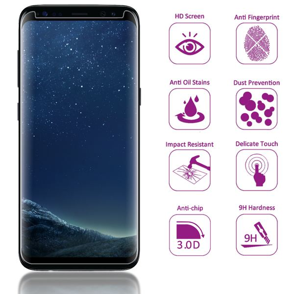 NALIA Sicht-Schutzglas kompatibel mit Samsung Galaxy S8 Plus, Anti Spy Blickschutz Glas Privacy Filter Full-Cover 9H Displayschutz-Folie Schutzglas Protector Volle Tablet Bildschirm Display-Abdeckung – Bild 2