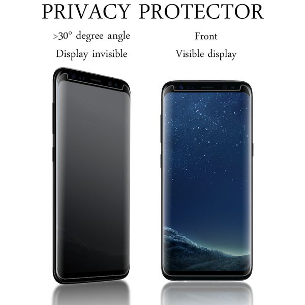 NALIA Sicht-Schutzglas kompatibel mit Samsung Galaxy S8 Plus, Anti Spy Blickschutz Glas Privacy Filter Full-Cover 9H Displayschutz-Folie Schutzglas Protector Volle Tablet Bildschirm Display-Abdeckung – Bild 3
