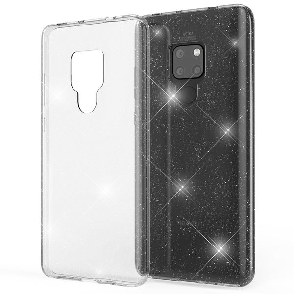 NALIA Glitter Hülle kompatibel mit Huawei Mate20, Glitzer Handyhülle Ultra-Slim Silikon Case Cover Schutzhülle, Bling Handy-Tasche Bumper, Dünnes Strass Smart-Phone Backcover – Bild 2