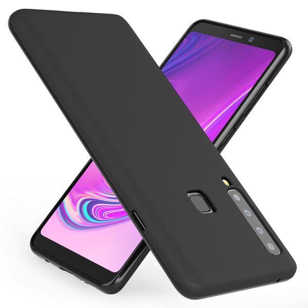 NALIA Hülle kompatibel mit Samsung Galaxy A9 2018, Ultra-Slim Handyhülle Silikon Case Cover, Dünne matte Schutzhülle, Etui Handy-Tasche Back-Cover Bumper, TPU Smart-Phone Gummihülle - Schwarz – Bild 1